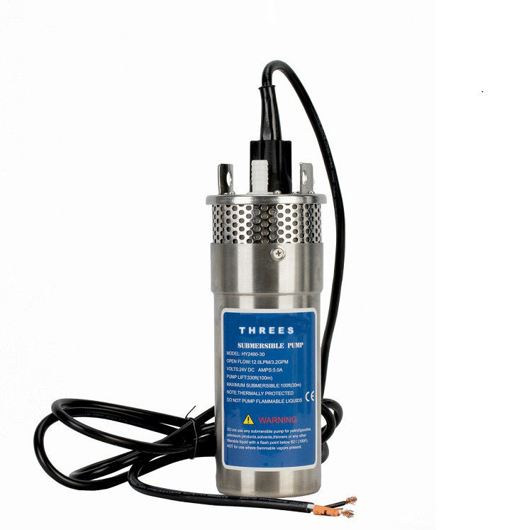 Stainless Steel Dc Submersible Pump , High Pressure Water Pump Corrosion Proof Housing